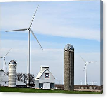 Old And New Farm Site Canvas Print by Kathy M Krause