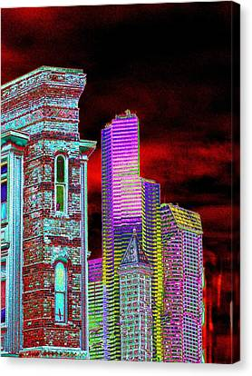 Old And New Seattle Canvas Print by Tim Allen
