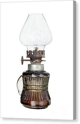 Old And Used Kerosene Lamp Canvas Print