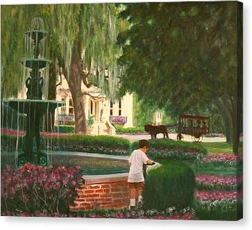 Old And Young Of Savannah Canvas Print by Ben Kiger