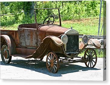 Old Antique Vehicle Canvas Print by Douglas Barnett