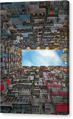 Cost Line Canvas Print - Old Apartment In Hong Kong by Anek Suwannaphoom