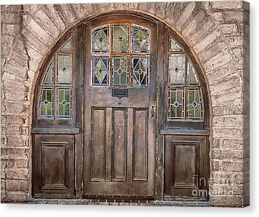 Old Archway And Door Canvas Print by Sandra Bronstein