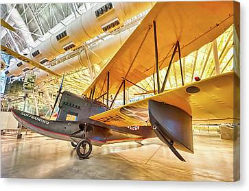 Canvas Print featuring the photograph Old Army Biplane by Lara Ellis