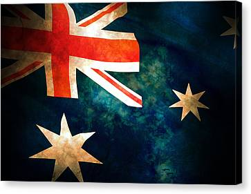 Old Australian Flag Canvas Print by Phill Petrovic