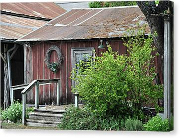 Old Barn 2 Canvas Print by Teresa Blanton