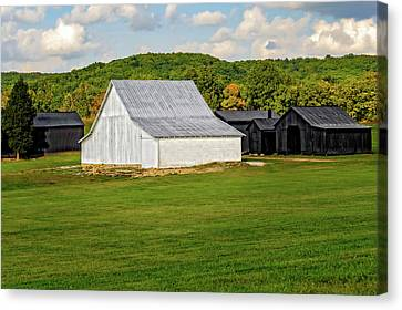 Old Barn And Sheds Passing Time On A Warm Kentucky Day  -  Kybarn596 Canvas Print by Frank J Benz