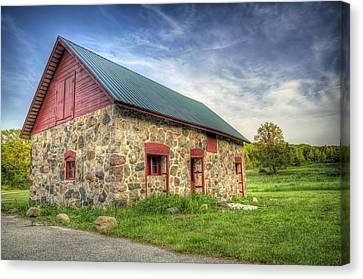 Old Barn At Dusk Canvas Print by Scott Norris