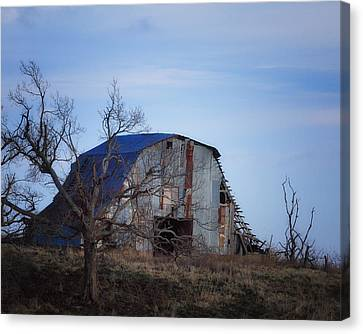 Old Barn At Hilltop Arkansas Canvas Print by Michael Dougherty