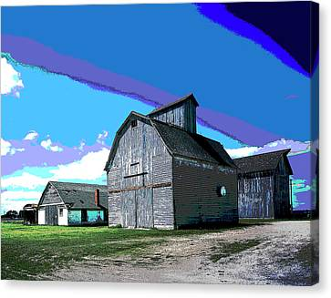 Old Barn Canvas Print by Charles Shoup