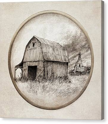 Old Canvas Print - Old Barn by Eric Fan