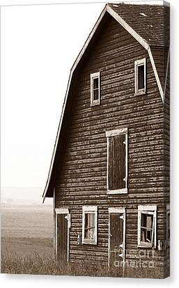 Old Barn Front Canvas Print by Mario Brenes Simon