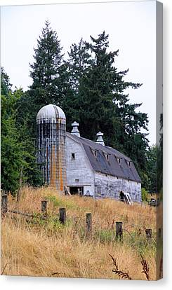 Old Barn In Field Canvas Print by Athena Mckinzie