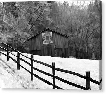 Old Barn In Kentucky Canvas Print