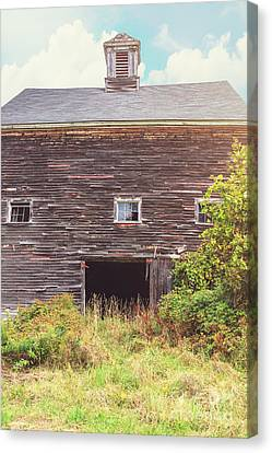 Old Barn In The Sun Canvas Print by Edward Fielding