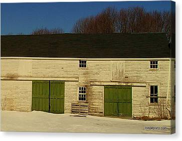 Old Barn Canvas Print by Lois Lepisto