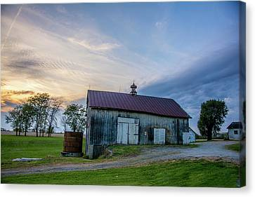 Old Barn On 741 Canvas Print by Randall Branham