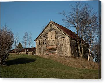 Old Barn On A Hill Canvas Print