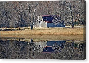 Old Barn Canvas Print by Rick Friedle