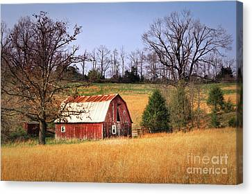 Old Barn Canvas Print by Tamyra Ayles
