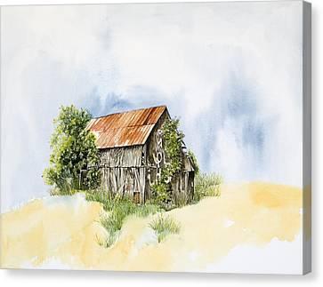 Old Barn Canvas Print by Virginia McLaren