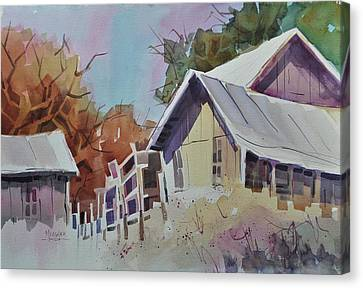Old Barns Canvas Print by Spencer Meagher