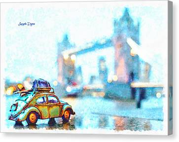 Old Beetle Visiting London - Da Canvas Print