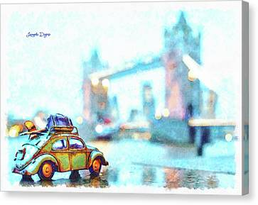 Old Beetle Visiting London Canvas Print