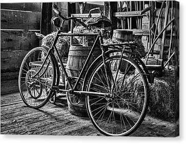 Canvas Print featuring the photograph Old Bicycle by Stuart Litoff