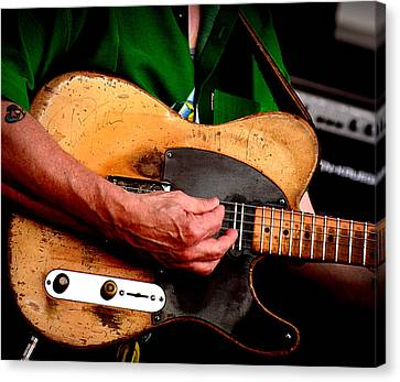 Canvas Print featuring the photograph Old Blonde Tele by Jim Mathis
