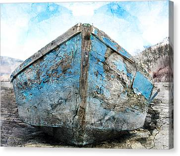 Old Blue # 2 Canvas Print by Ed Hall