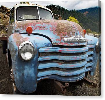 Old Blue Chevy Canvas Print