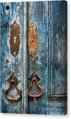Old Blue Door Canvas Print by Carlos Caetano