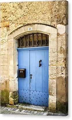 Old Blue Door - France Canvas Print by Georgia Fowler