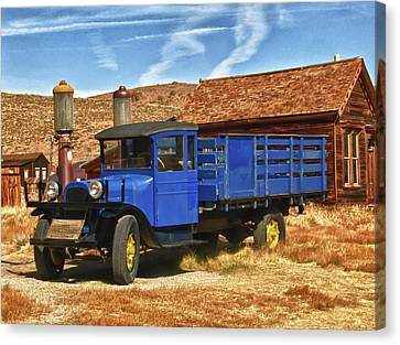 Old Blue 1927 Dodge Truck Bodie State Park Canvas Print by James Hammond