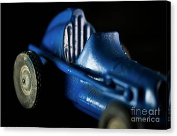 Old Blue Toy Race Car Canvas Print by Wilma Birdwell