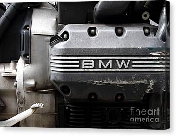 Old Bmw Motorcycle Engine . 7d13654 Canvas Print by Wingsdomain Art and Photography