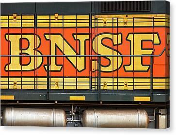 Old Bnsf Logo Canvas Print by Todd Klassy