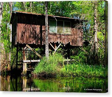 Old Boat House Canvas Print by Barbara Bowen