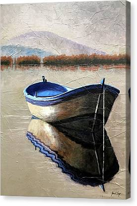 Old Boat Canvas Print by Janet King
