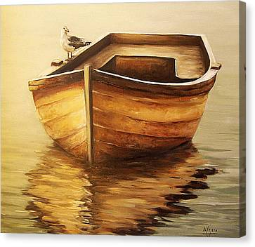Old Boat Canvas Print by Natalia Tejera