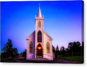Old Bodega Church Sunset Canvas Print
