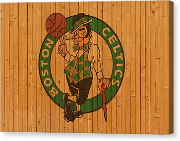 Floor Canvas Print - Old Boston Celtics Basketball Gym Floor by Design Turnpike