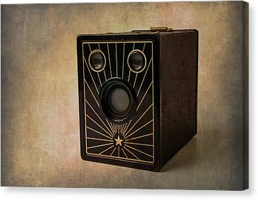 Old Box Camera Canvas Print by Garry Gay