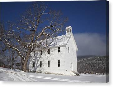 Old Boxley Community Building And Church In Winter Canvas Print by Michael Dougherty