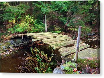 Canvas Print featuring the photograph Old Bridge by Francesa Miller