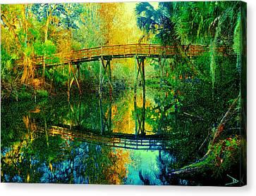 Old Bridge On The Hillsborough Canvas Print by David Lee Thompson
