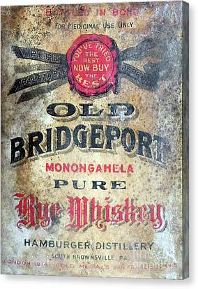 Hamburger Canvas Print - Old Bridgeport Rye Whiskey by Jon Neidert