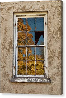 Old Broken Window Canvas Print by Michael Flood