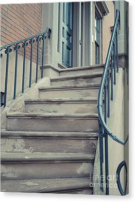 Old Brownstone Staircase Canvas Print